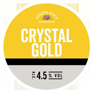 crystal gold lager logo pump clip