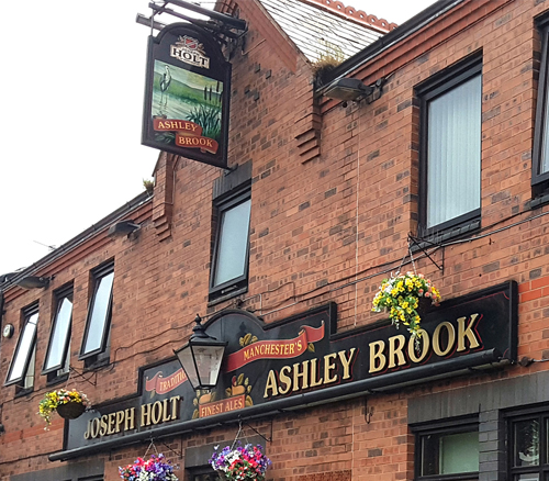 Ashley brook pub outside salford