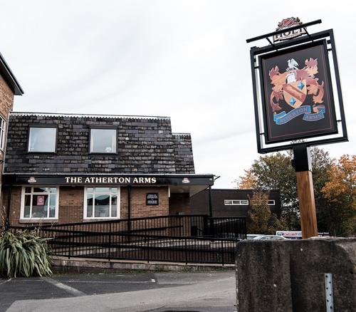 atherton arms pub outside