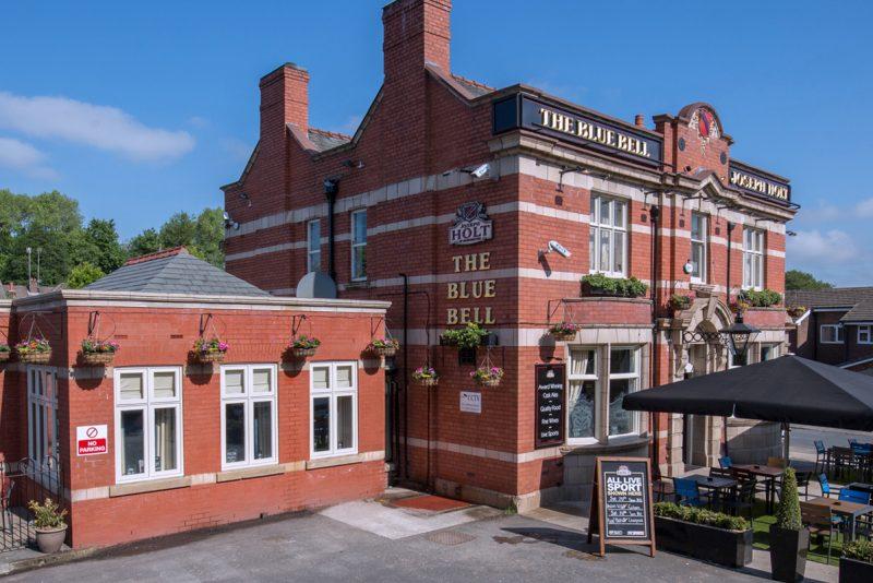 blue bell food pub in bury