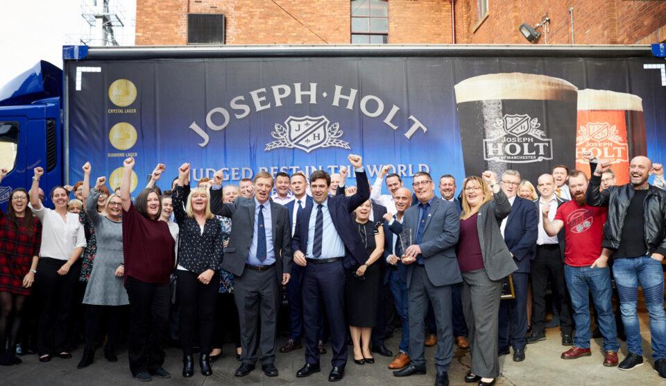 Joseph holt brewery team charity fundraising