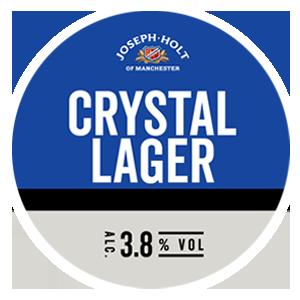 crystal lager logo pump clip