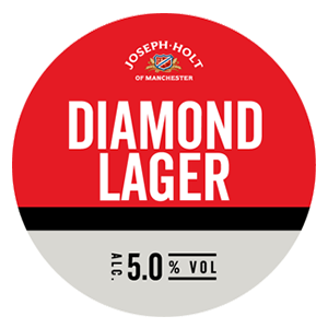 joseph holt diamond premium lager logo pump clip