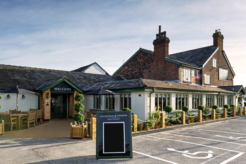 the hayfield lovely country food pub in ormskirk