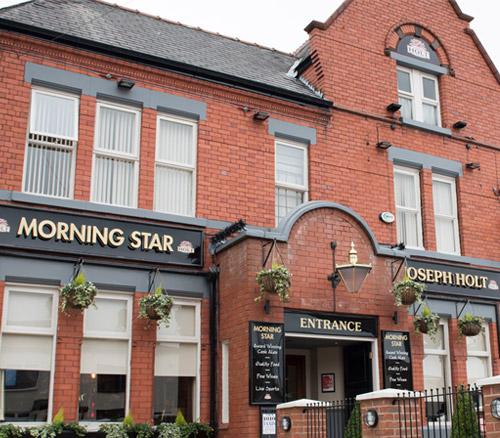 morning star outside of pub in swinton