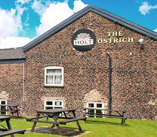 the ostrich pub in prestwich beer garden