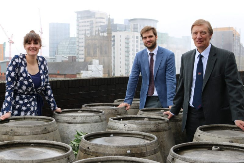 Our History kershaw family on brewery rooftop