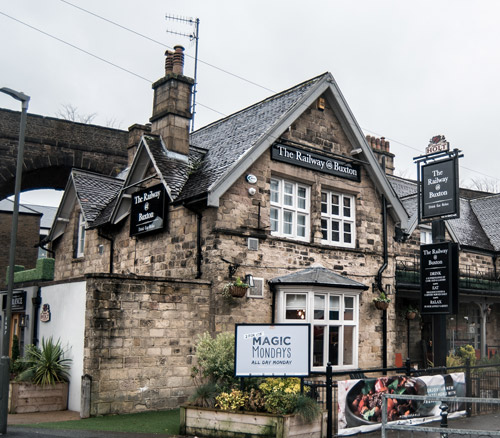 railway pub at buxton outside