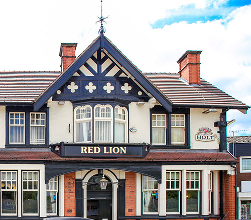 red lion pub irlams oth height