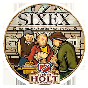sixex dark ale logo pump clip