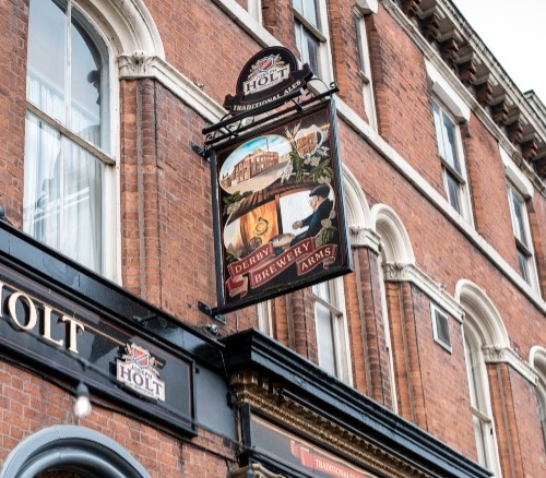 Derby Brewery Arms pub pictorial sign