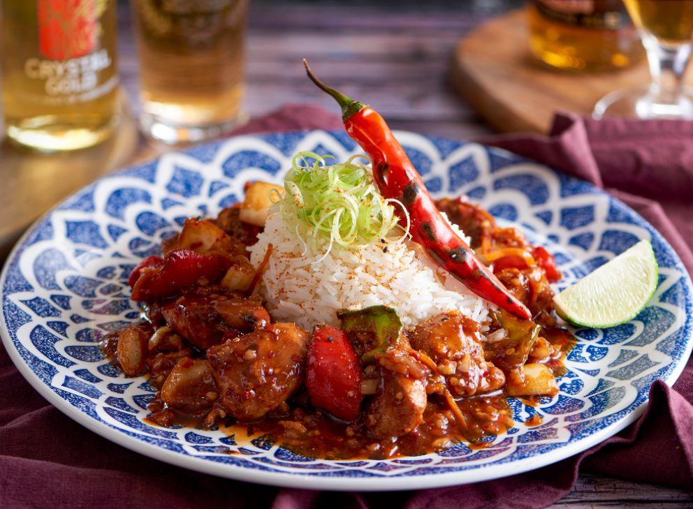 firecracker chicken new food menu with beer