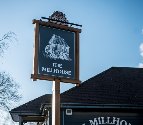 millhouse outdoor sign