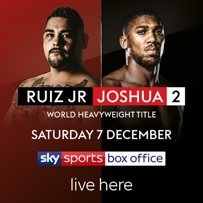 ruiz joshua boxing 7 dec