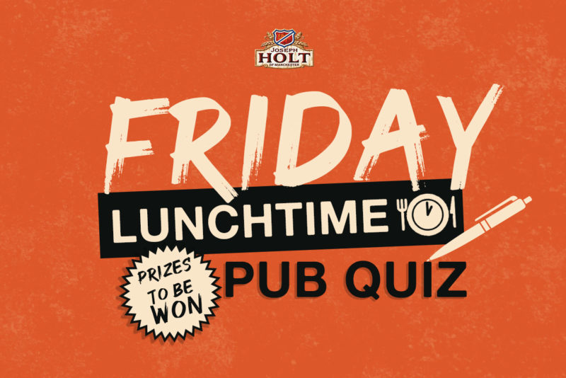 Friday lunchtime online Pub Quiz