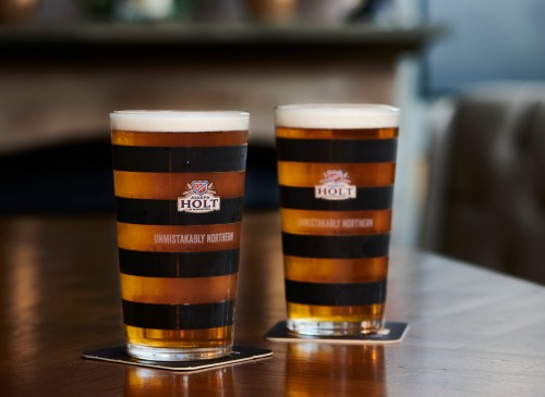 two pints of Northern Hop on table