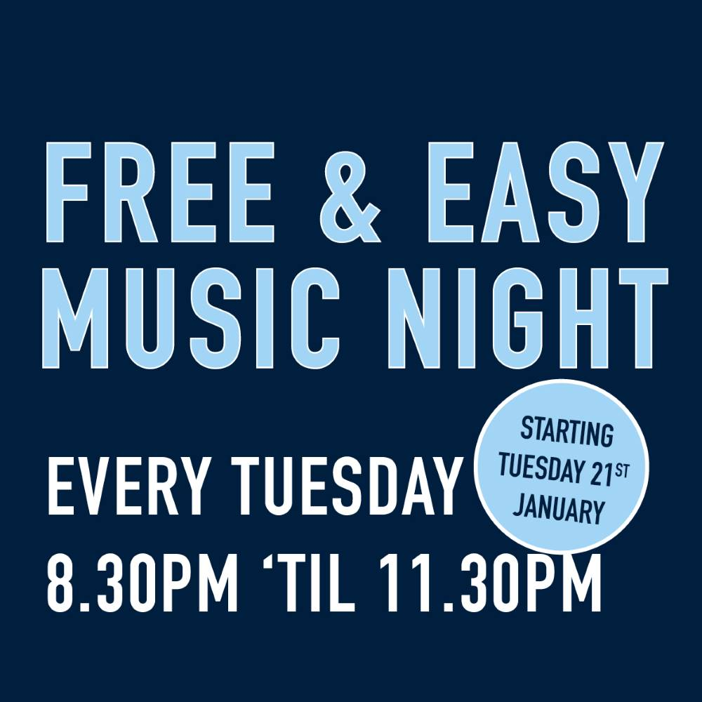 Free & Easy Music Night grove inn