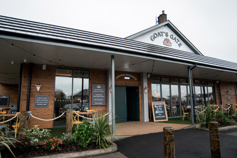 goats gate pub in whitefield with beer garden