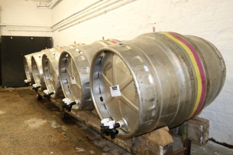 cask ale barrels in cellar