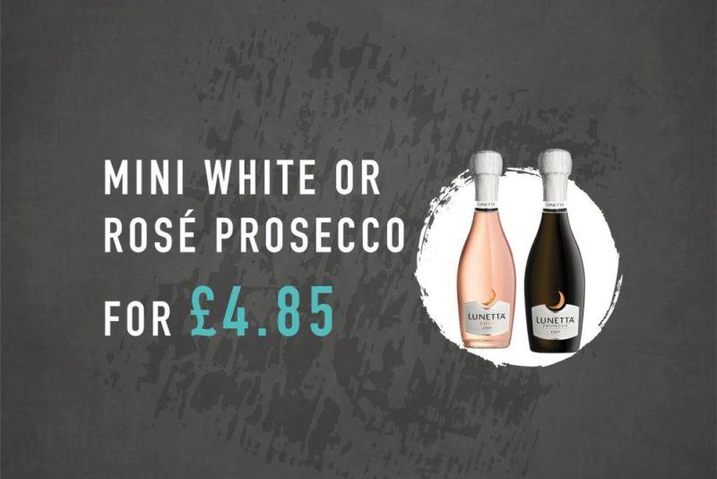 mini prosecco bottle offer