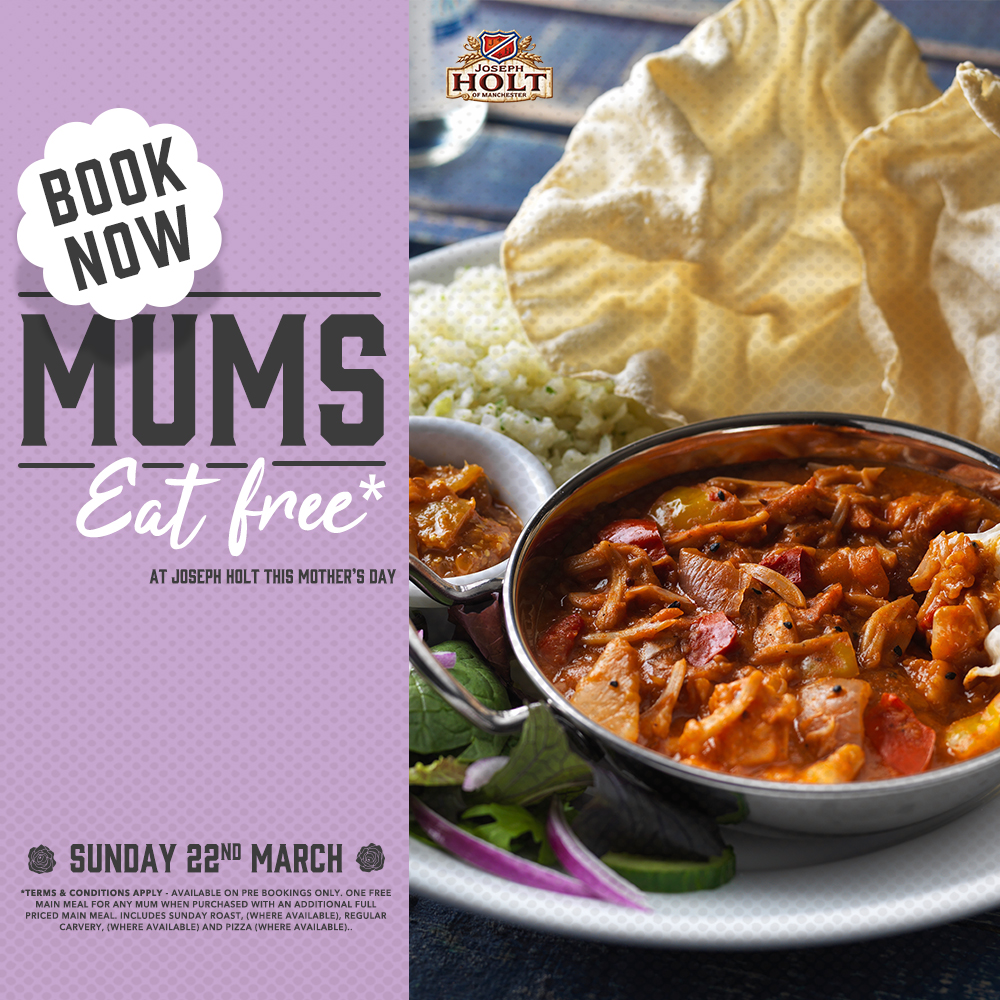 Mothers Day mums eat free