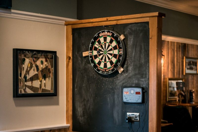 dartboard at the millhouse cinnamon brow