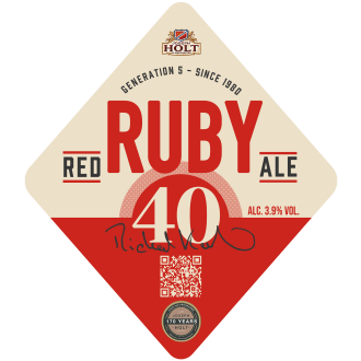 ruby 40 pump clip ruby red ale