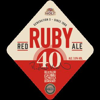 ruby 40 pump clip ruby red ale