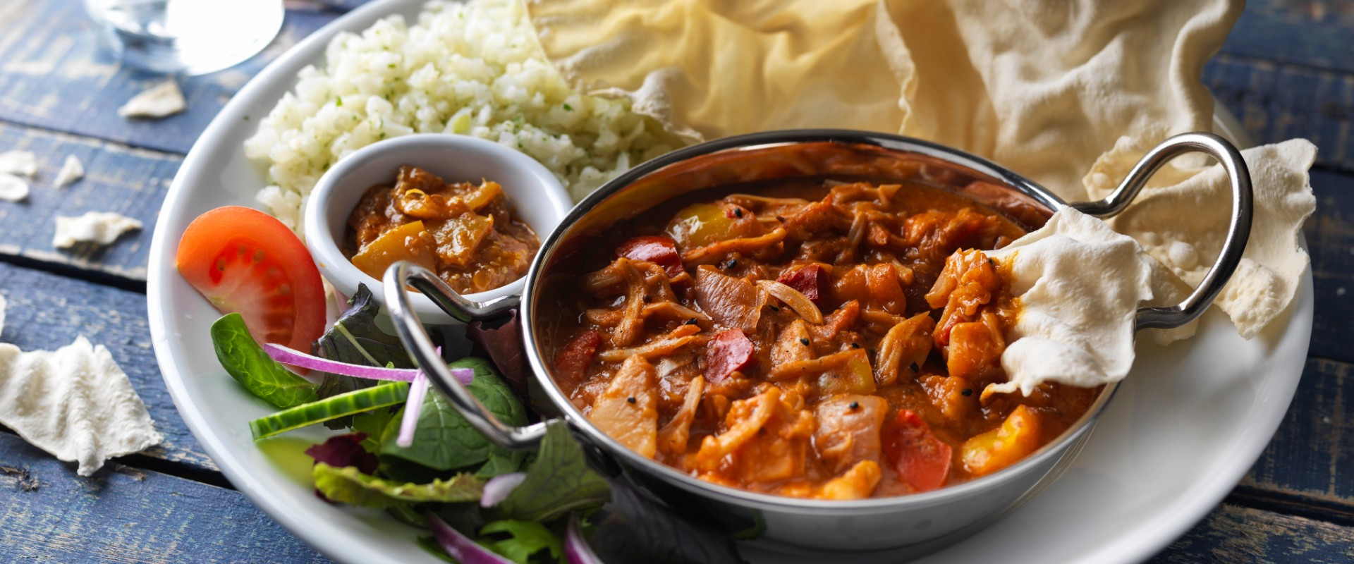 Vegan Curry jackfruit balti