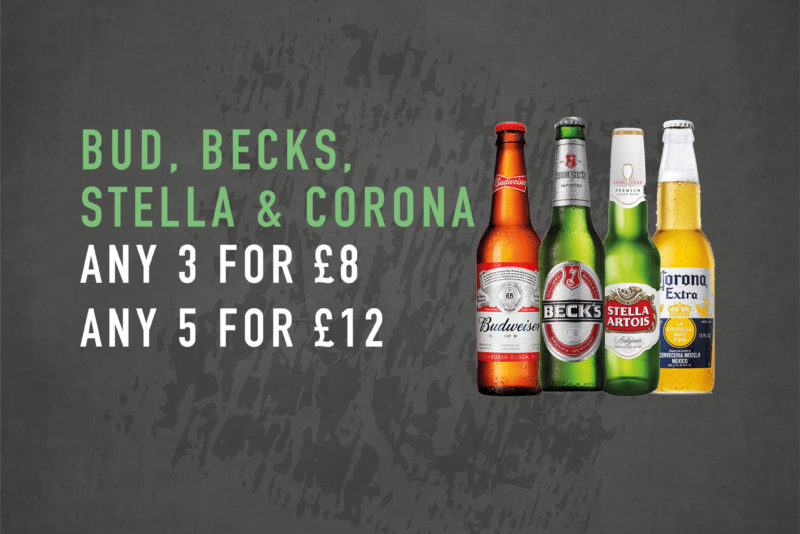march drink offer - mixed bottles