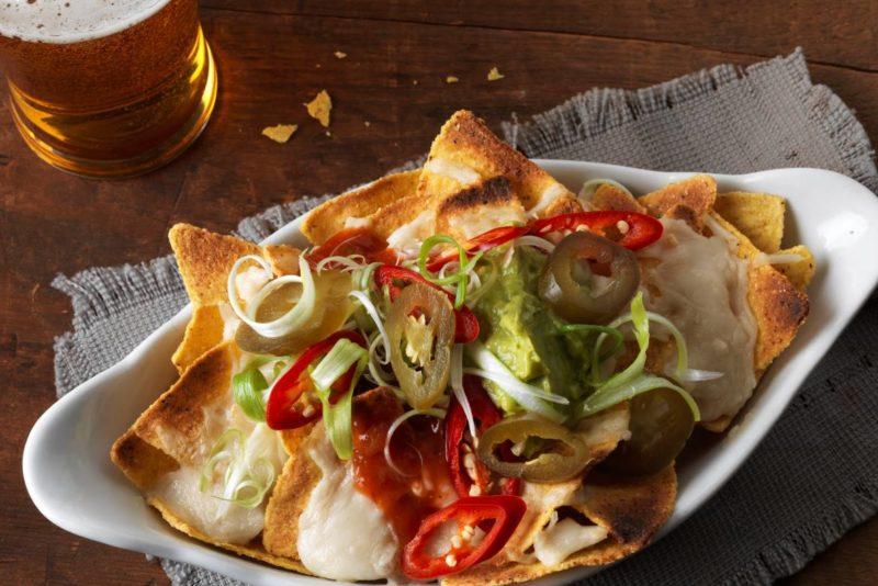 vegan nachos and beer