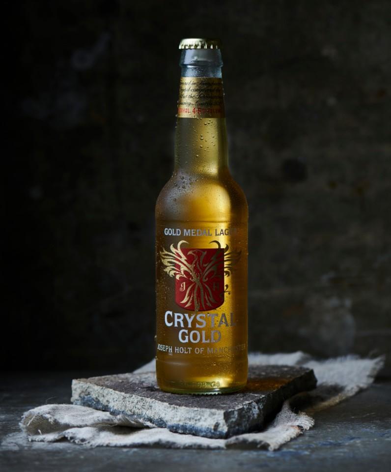 Crystal Gold Bottle