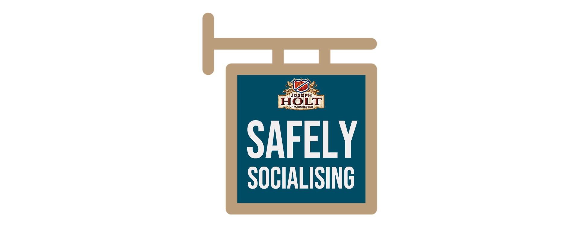 Safely socialising header logo