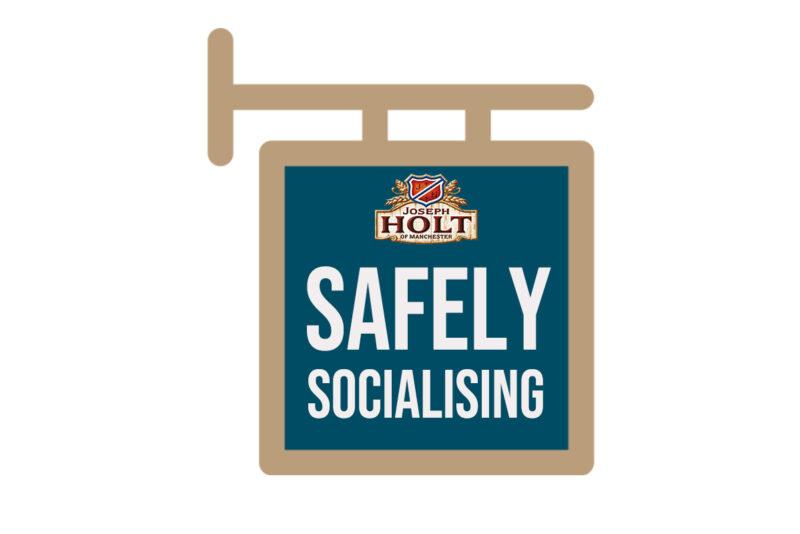 Safely socialising logo