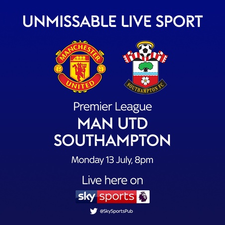 13 july man united vs southampton