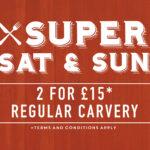 carvery offer saturday sunday