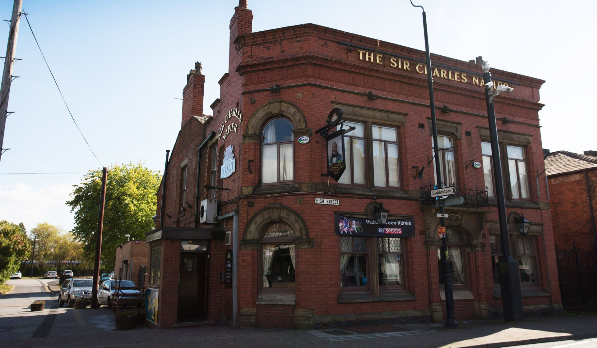sir charles napier joseph holt pub warrington