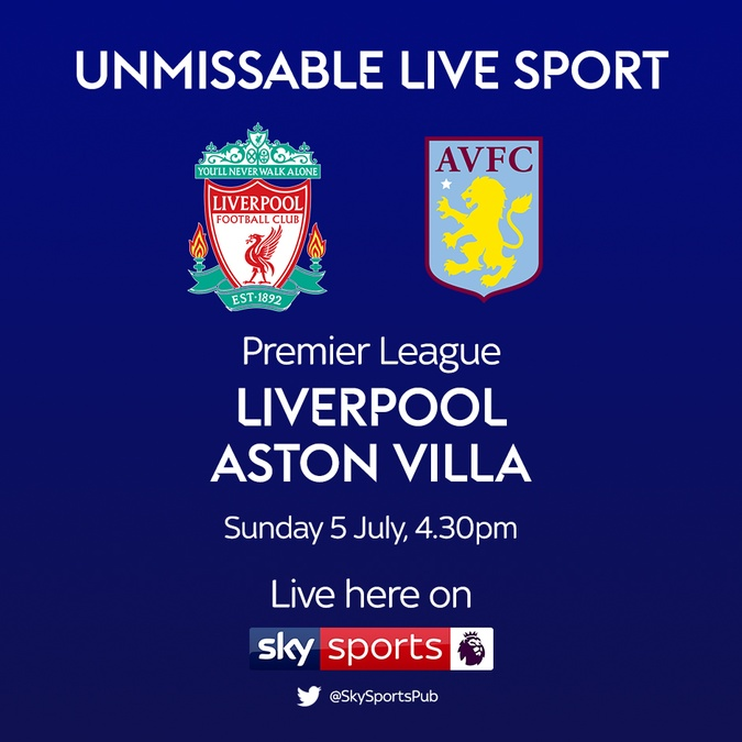 liverpool vs aston villa fixture