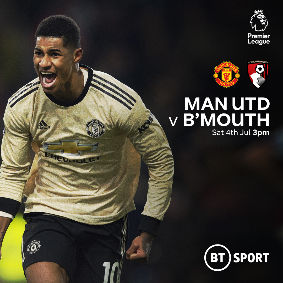man united bournemouth graphic