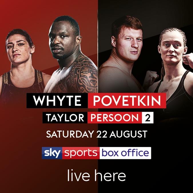 Whyte vs povetkin boxing sky sports poster
