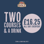 Food Offers 2 Courses for 16.25