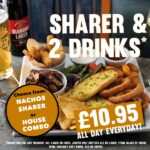 sharer and 2 drinks food offer tier 3