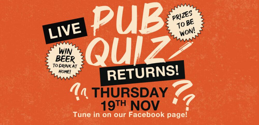 joseph holt live pub quiz facebook virtual