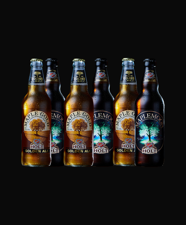 maple gold and maple moon bottle ales collection