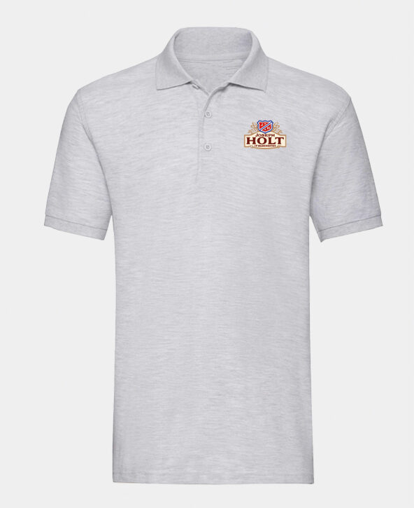 light grey short sleeved polo shirt joseph holt clothing