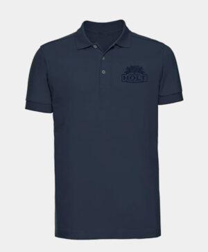 french navy polo shirt with mono joseph holt holt