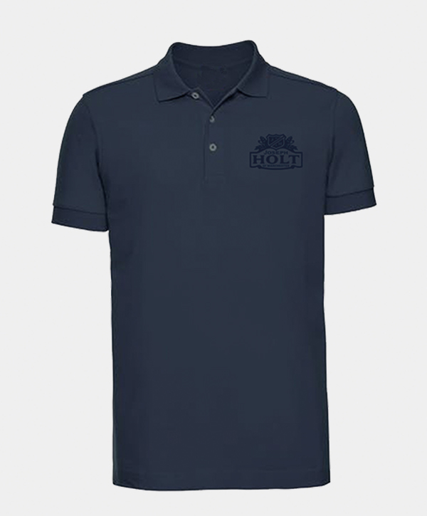 french navy polo shirt with mono joseph holt holt