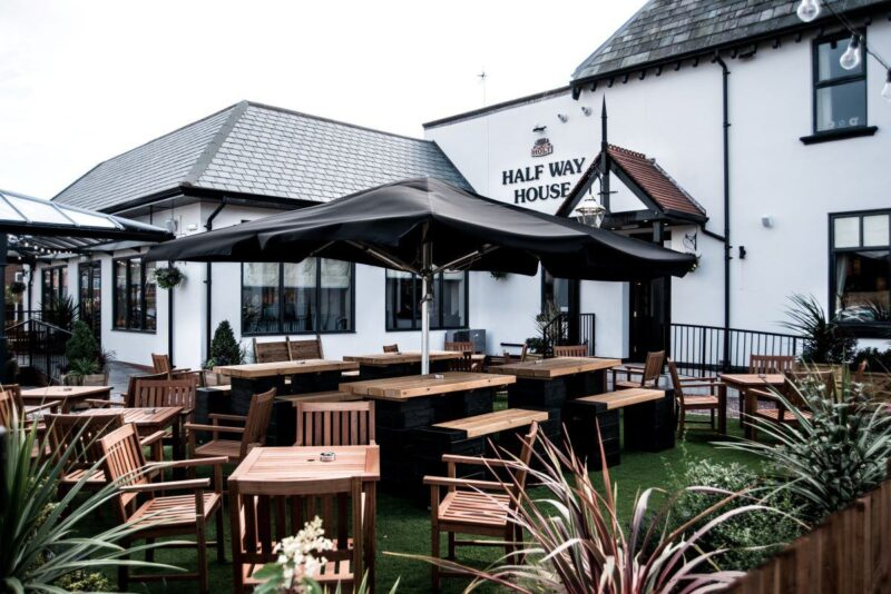 half way house blackpool pub with beer garden joseph holt pub
