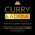 curry and a drink wednesday offer