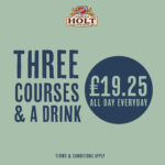 3 courses and a drink for 19.25